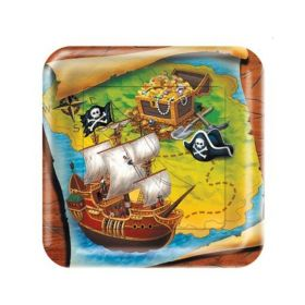 Buried Treasure Dinner Square Plates 23cm, pk8