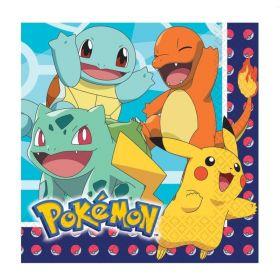 New Pokemon Luncheon Napkins 33cm x 33cm, pk16