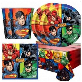 Justice League Tableware Pack for 16