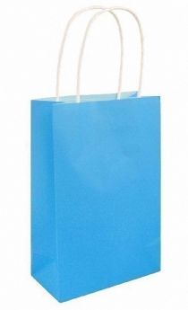 Neon Blue Paper Party Bag