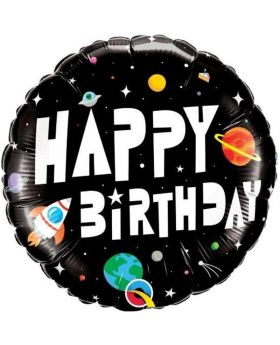 Astronaut Happy Birthday Foil Balloon 18""