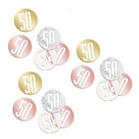 Glitz Rose Gold Age 50 Confetti 14g