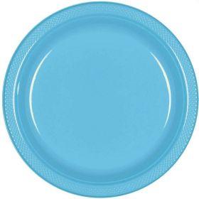 Caribbean Blue Plastic Plates 23cm, pk20