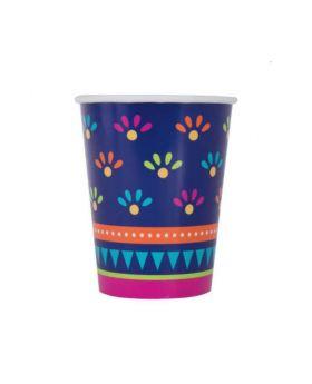 Boho Mexican Fiesta Cups 270ml, pk8