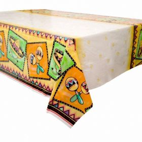 Mexican Fiesta Plastic Table Cover 54'' x 84''