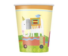 8 Circus Animal 9oz Cups
