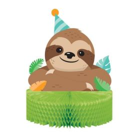 Sloth Party Honeycomb Centrepiece 23cm