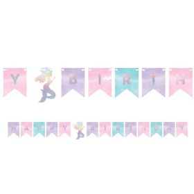 Mermaid Shine Shaped Banner 1.5m