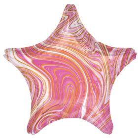 """Marblez Pink Star Standard Foil Balloon 19"""""""