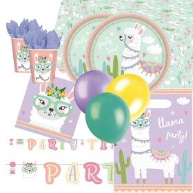 Llama Party Time Deluxe Party Pack for 16