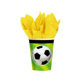 Football Party Cups, pack of 8