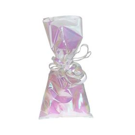 Iridescent Foil Cello Bags with Twist Ties