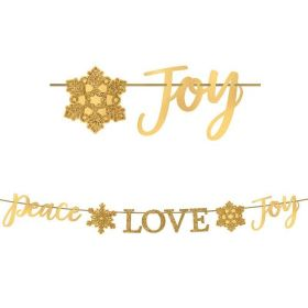 Peace, Love, Joy Glitter Banner 3.65m