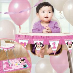 Minnie Mouse Fun to Be One High Chair Decorating Kit