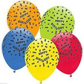 Block Latex Party Latex Balloons, pk6