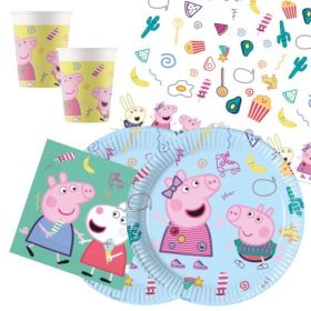 Peppa Pig Messy Play Party Tableware Pack for 16
