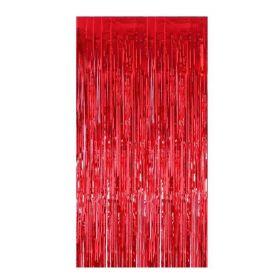 Red Foil Curtain 92cm x 244cm