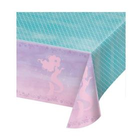 Mermaid Shine Plastic Tablecover 1.37m x 2.6m