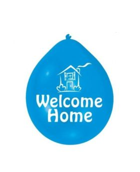 "Welcome Home Latex  Balloons 9"", pk10"