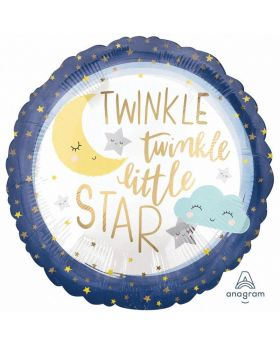 Twinkle Little Star Standard Satin XL Foil Balloon 18''