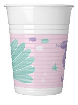 Party Under The Sea Plastic Cups 200ml, pk8