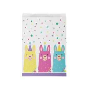 Llama Pastel Party Paper Treat Bags, pk8