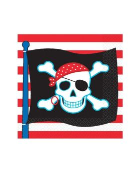 Pirate Party Napkins 33cm x 33cm, pk16