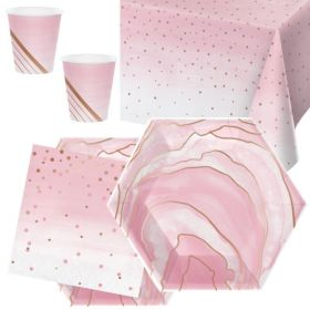 Rose All Day Party Tableware Pack for 16