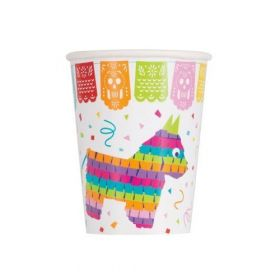 Mexican Fiesta Party Cups 270ml, pk8