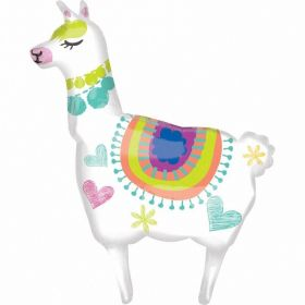 Llama SuperShape Foil Balloon 28'' x 41''