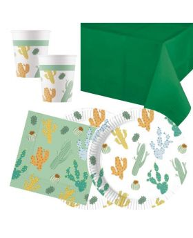 Cacti Party Tableware Pack for 16
