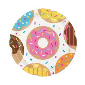 Donut Time Party Plates 23cm, pk8