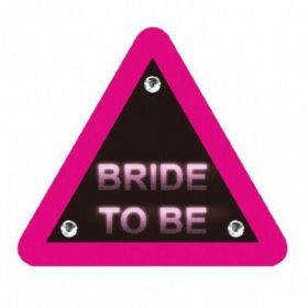 Bride to Be Warning Triangle Brooch