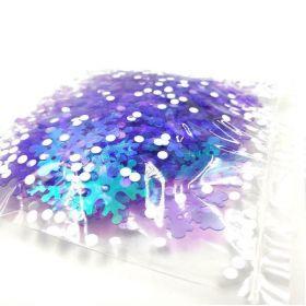 Iridescent Snowflake Embossed Confetti