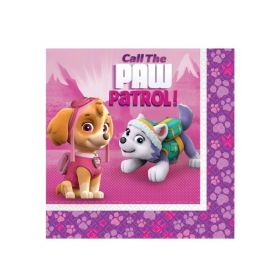 Pink Paw Patrol Luncheon Party Napkins pk16