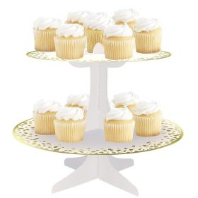 Gold Foil Cupcake Stand