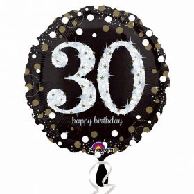 Gold Sparkling Celebration 30th Birthday Standard Foil Balloon