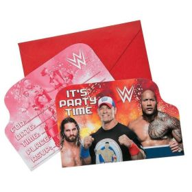 WWE Party Post Card Invitations
