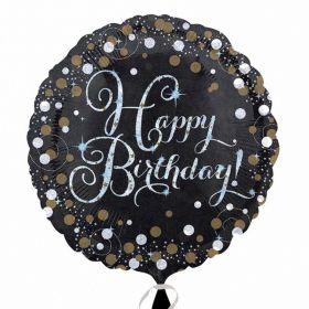 Gold Sparkling Celebration Happy Birthday Standard Foil Balloon