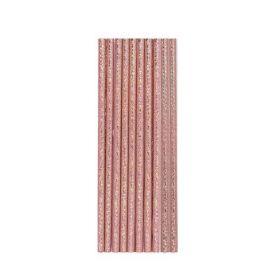 Rose Gold Paper Straws, pk10