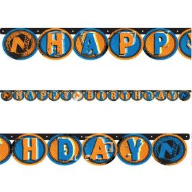 NERF Party Happy Birthday Letter Banner 2.2m
