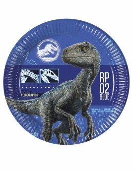 Jurassic World Fallen Kingdom Paper Plates 23cm, pk8
