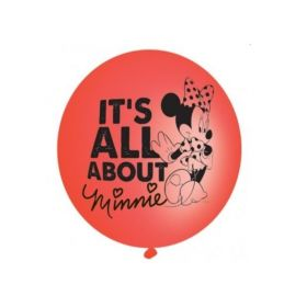 Minnie Mouse Red Latex Punch Balloons, pk4