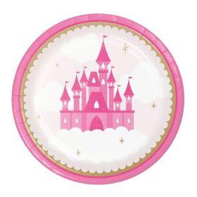 Little Princess Party Lunch Plates 18cm, pk8
