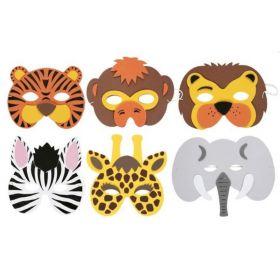 Soft Wild Animal Masks, pk6