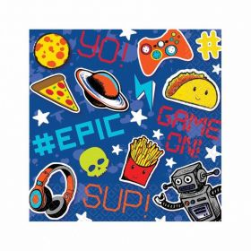 Epic Party Luncheon Napkins 33cm - pk16