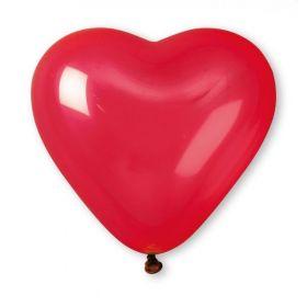 Red Heart Shape Latex Balloons