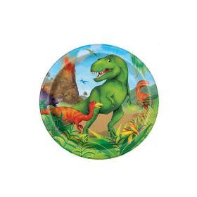 """8 Dinosaur 7"""" Plates"""