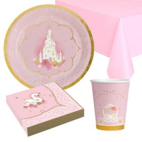 Princess for a Day Party Tableware Pack for 8