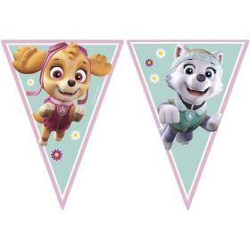 Pink Paw Patrol Party Flag Banner 2.3m